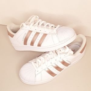 Adidas Superstar Rose Gold. Size 8.5